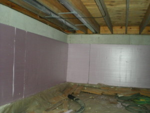 Crawlspace insulation weatherization home performance for Concrete crawl space floor